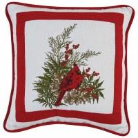 """10"""" Square Cardinal Pillow"""