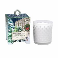 6.5 oz Christmas Snow Glass Candle