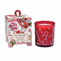 6.5 oz Peppermint Glass Candle