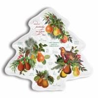 "12"" Pear Tree Melamine Platter"