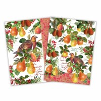 Set of 2 In A Pear Tree Kitchen Towels