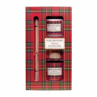Tartan Diffuser and Votive Candle Gift Set