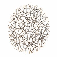 "32"" Round Bronze Wire Arcs Metal Wall Plaque"