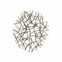 "20"" Round Bronze Wire Arcs Metal Wall Plaque"