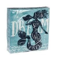 """5"""" Square 40 Count Mermaid Dream Beverage Napkin"""