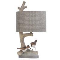 """25"""" Beige Sanderlings and Branch Table Lamp"""