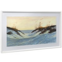 "21"" x 35"" Beach Entry Framed Print Under Glass"