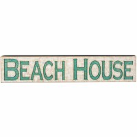 "9"" x 47"" Beach House Horizontal Wooden Sign"