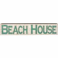 "9"" x 47"" Beach House Horizontal Wooden Sign"