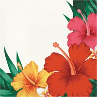 "6.5"" Square Tropical Flower Lunch Napkin"