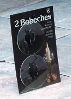 Set of 2 Round Clear Glass Bobeche