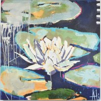 """30"""" Square One Waterlily Canvas"""