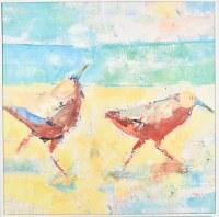 "30"" Square Two Multiposition Sandpiper Canvas in White Frame"