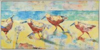 """24"""" x 48"""" Four Multiposition Sandpiper Canvas in White Frame"""