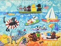 """30"""" x 40"""" Dogs on the Beach Canvas"""