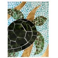 "16"" x 12"" Turtle Mosaic Plaque"