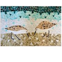 "16"" x 24"" Sandpipers Mosaic Plaque"