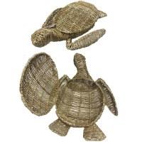 """20"""" Natural Turtle Shaped Basket"""