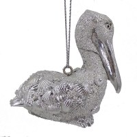 "2"" Silver Pelican Resin Ornament"