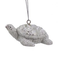 "2"" Silver Turtle Resin Ornament"
