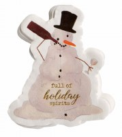 Pack of 20 Snowman Die Cut Beverage Napkin