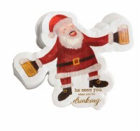 Pack of 20 Santa Die Cut Beverage Napkins