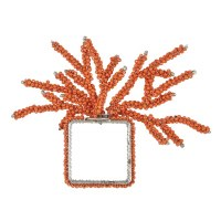 "2"" Coral Beaded Coral Napkin Ring"