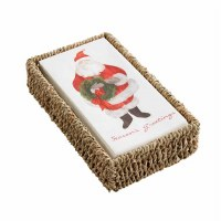 Santa Guest Towel With Seagrass Holder