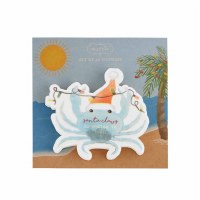 Pack Of 20 Santa Crab Die Cut Beverage Napkins
