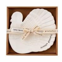 """8"""" White Turkey Plate With Spreader"""