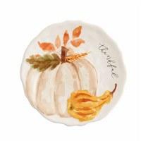 """8"""" Round Cream Pumpkin Plate"""