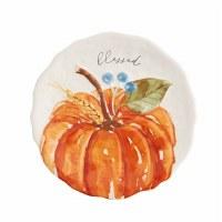 """8"""" Round Orange Pumpkin Plate"""