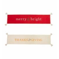 "80"" Christmas and Thanksgiving Reversible Runner"