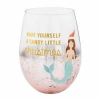 16 OZ Christmas Mermaid Wine Glass