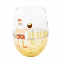 16 OZ Beach Santa Wine Glass