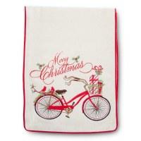 """72"""" Christmas Bike Table Runner"""