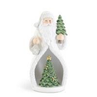 "7"" LED White Santa With Tree"