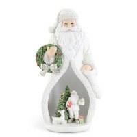 """10"""" LED White Santa In Santa"""