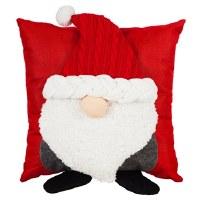 "17"" Square 3D Gnome Pillow"