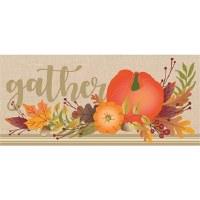 """10"""" x 22"""" Pumpkin Gather Doormat"""