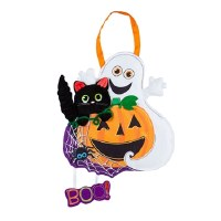 "20"" Pumpkin, Ghost and Cat Door Hanger"
