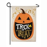 Mini Trick Or Treat Pumpkin Flag
