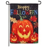 Mini Happy Halloween Pumpkin Flag