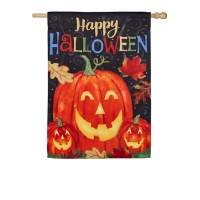 Happy Halloween Pumpkin Flag