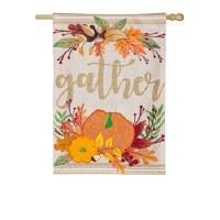 Gather Pumpkins Flag