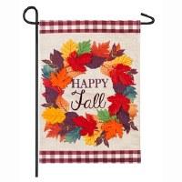 Mini Happy Fall Wreath Flag