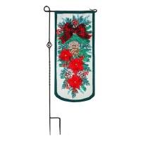 Mini XL Poinsettia Flag