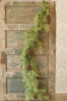 6' Green Pine Garland With Small Cones