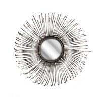 "15"" Round NK Silver Rays Mirror"