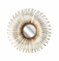 "17"" Round NK Gold Rays Mirror"